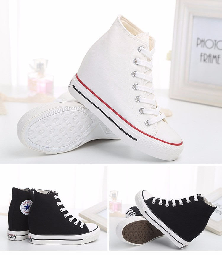 KUYUPP High Top Canvas Women Shoes Espadrilles Spring Autumn Womens Wedges Shoes Lace Up Casual Shoes For Female Sapatilha YD120 (21)