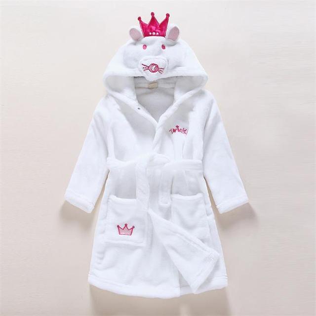 a1102868fe1250 Szlafroki dziecięce dla dzieci dla dzieci chłopcy dziewczyny z kapturem  szlafrok frotte zima dziecko smok szlafrok