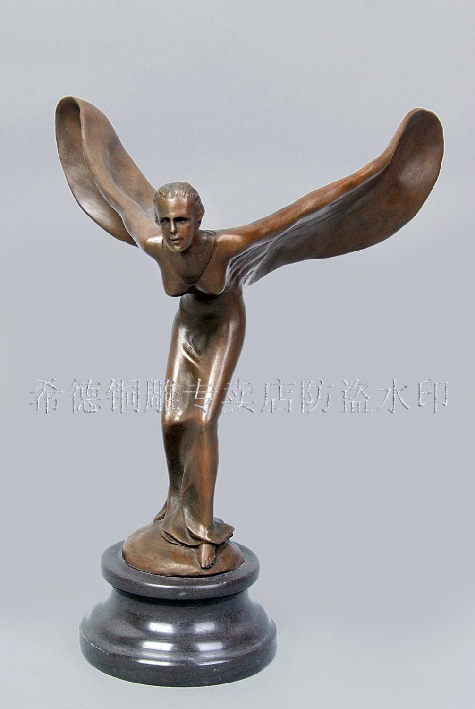 Tête artisanat Sid ameublement européen unique bronze bronze ornements tenue souple rolls-royce déesse DS-324