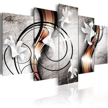 5 pieces/set Abstract poster Picture Print Painting On Canvas Wall Art Home Decor Living Room Canvas Art PJMT-B (223)(China)