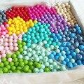 50 Pçs/lote Conta Redonda Silicone Dentição Beads 12mm Bebê Mordedor Enfermeira Colar de Contas Diy brinquedos Mordedores Bpa Livre 23 Cores Bd008