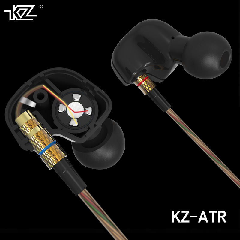Newest Original KZ ATR 3.5mm In Ear Earphones HIFI Stereo Sport Earphone Super Bass Noise Isolating With Mic in High Quality original kz atr in ear earphone noise cancelling earbuds with mic sports stereo bass hifi headset abs dynamic unit for iphone 7