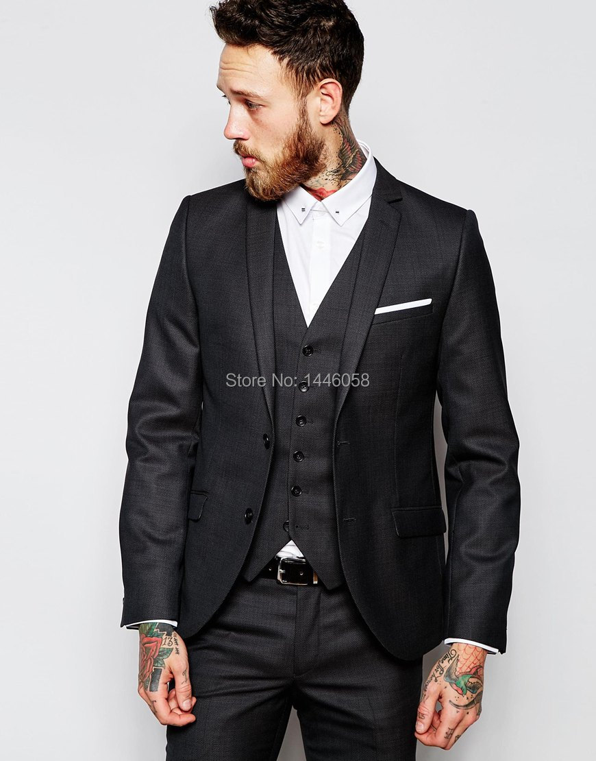 Online Buy Wholesale 3 piece grey suit from China 3 piece grey ...