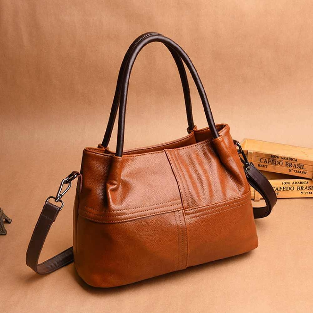 Hi Vicky 2019 New Luxury Vintage Genuine Cow Leather Bag Female Women Designer  Handbags Bags For 699712758504d