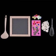 MrY DIY Dried Fiber Mulberry Paper Pressed Natural Leaves Flowers Handmade Kit Ancient Papermaking Method Tool Kits Gift