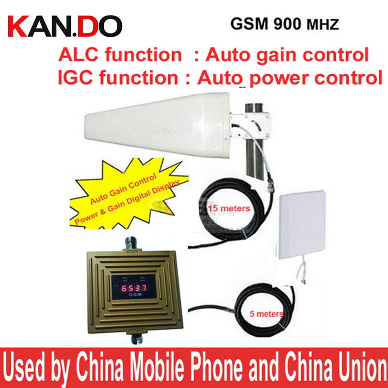 Work In Bad Signal Area Gsm 900mhz Booster AGC+ALC 65dbi GSM Booster GSM Repeater,mobile Phone Signal Repeater W/ Antenna &cable