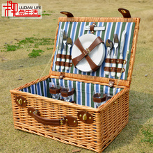 Picnic Basket Goods Cane Willow Thermal Preservation Belt Cover Camping Receiving Tableware
