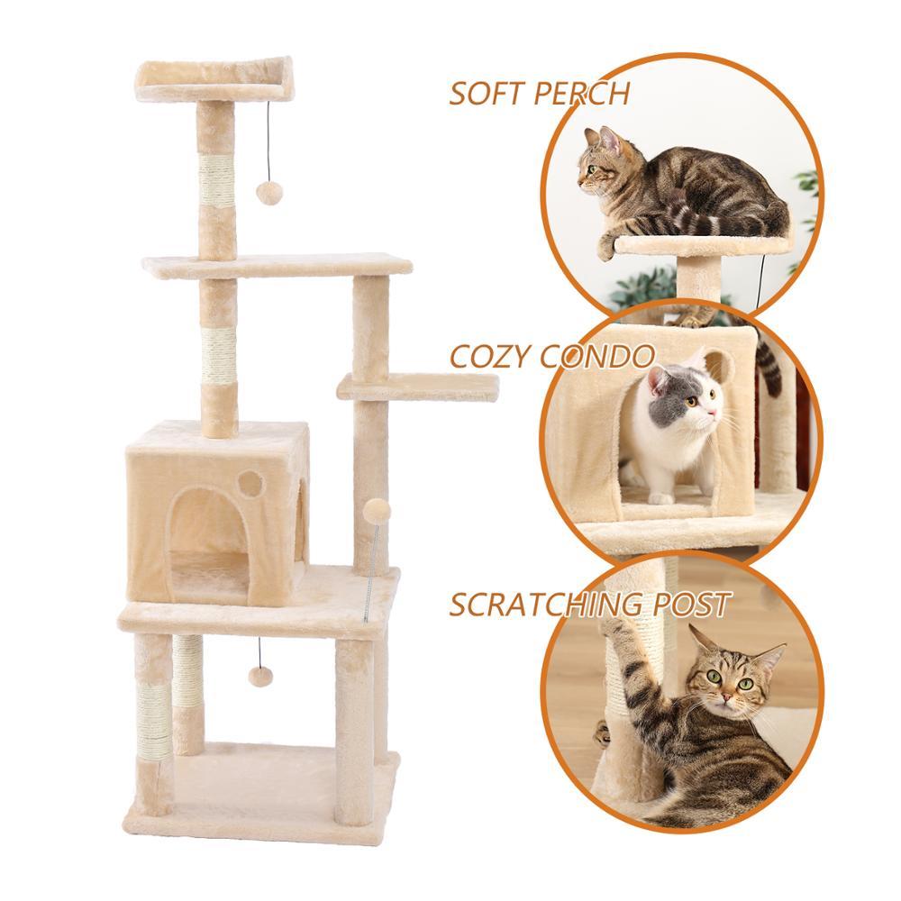 RU доставка в домашних условиях домик на дереве для кошки кошка дерево высокий Кот башня кровать с когтеточкой котенок игрушки Mascotas - 3