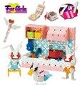 7 в 1 Девушки Laq Стиль 3D Строительные Блоки Рождественский Подарок 750 шт./компл. Развивающие Игрушки