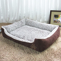 High Quality 2018 New Big Size Large Dog Bed Mat Soft Fleece Kennel Pet Dog Cama Puppy Cat Warm Bed House Cozy Dog House Pad