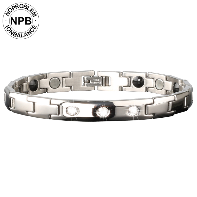NOPROBLEM Titanium Ion Balance sport jewelry therapy Health bracelet magnetic wholesale D