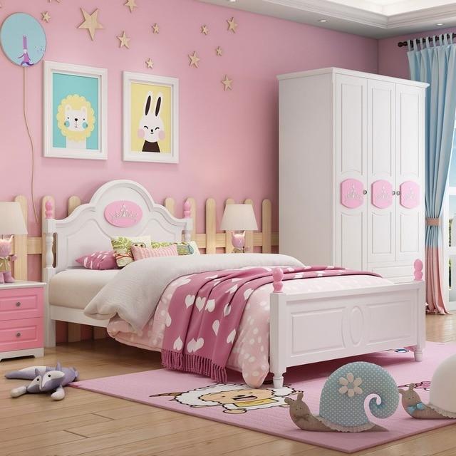 Children Beds kids Furniture pink solid wood kids beds child bed ...