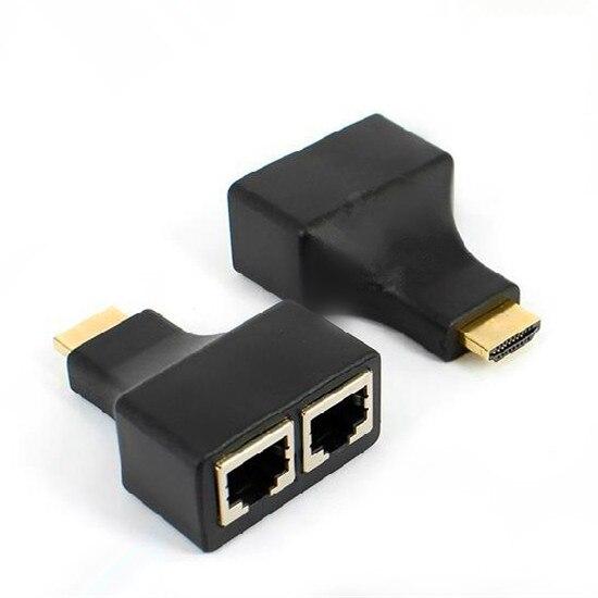 HDMI Over 30m RJ45 CAT5e CAT6 UTP LAN Ethernet Balun Extender HD 1080P 3D HDTV