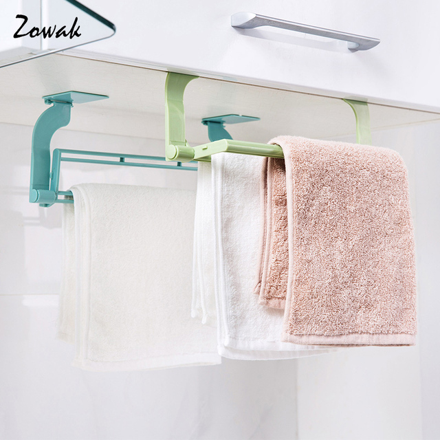Bathroom Towel Bar Self Adhesive Bath Toilet Wall Shelf Rack Hanging