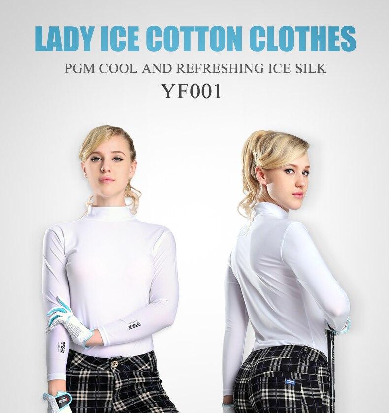 PGM Women Summer Shirt Underwear Golf Shirt Sunscreen UV Ice T-shirts Long Sleeve Clothes Golf Apparel Outdoor Sport 2