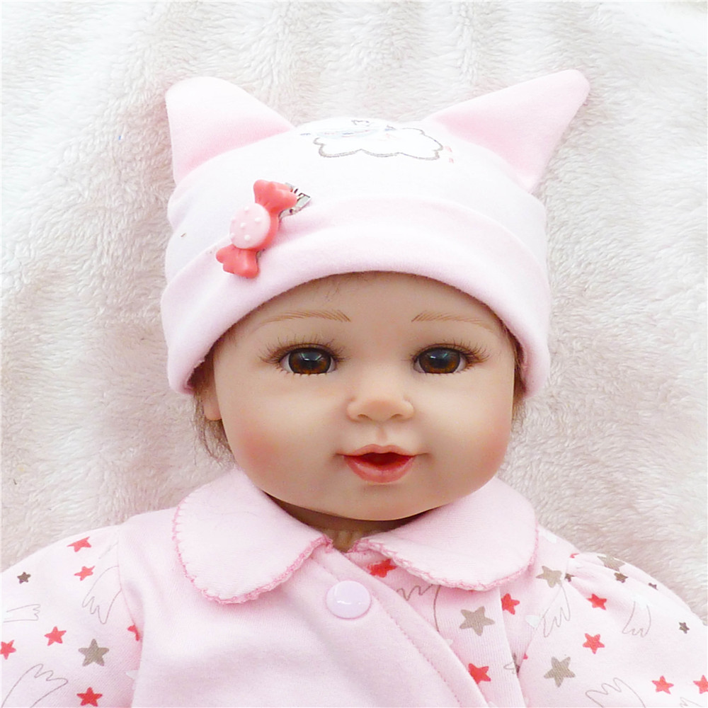 20 inch 50 cm Silicone baby reborn dolls, lifelike doll reborn lovely pink doll birthday gift : 91lifestyle