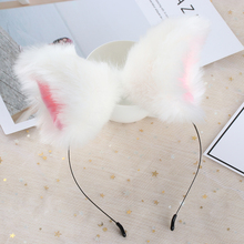 Night Party Club Bar Wearing Decorate Headband Fur Ear Pattern Hair Cat Bell Clips For Women Ear Hair Hoop Removable Hairpin