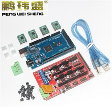 3D Printer Kit for Arduino Mega 2560 R3 Development Board + RAMPS 1.4 Controller + 4pcs A4988 Stepper Motor Driver Module