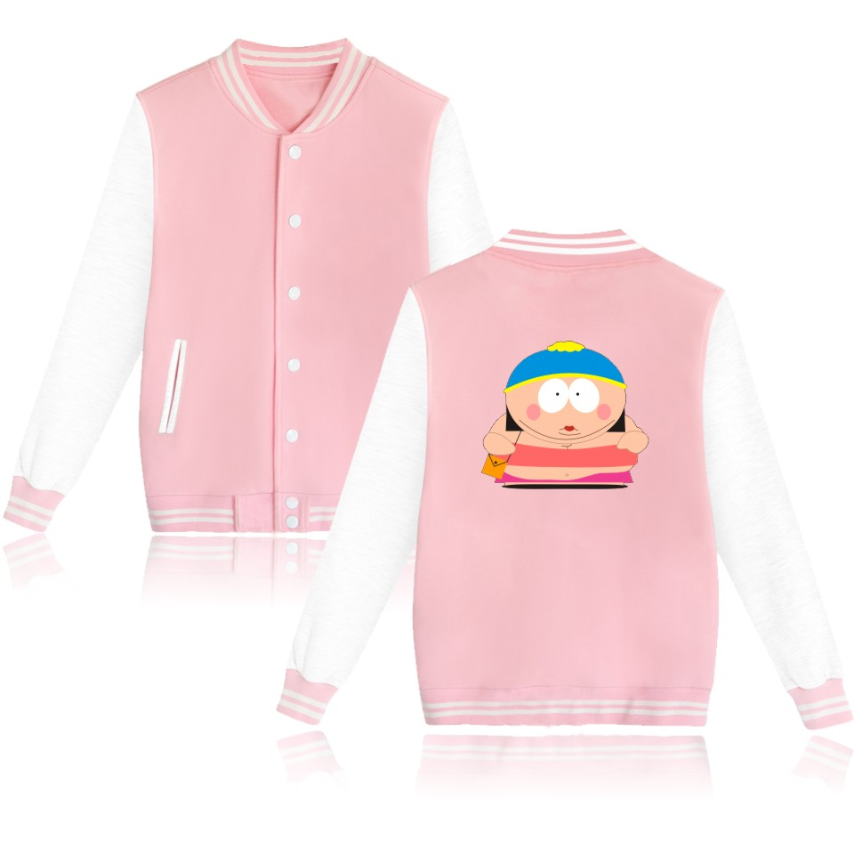 Sitcoms South Park Wadded Jacket Female Winter Jacket Funny New Print Baseball Jackets Soft Cotton Clothers Plus Size Autumn