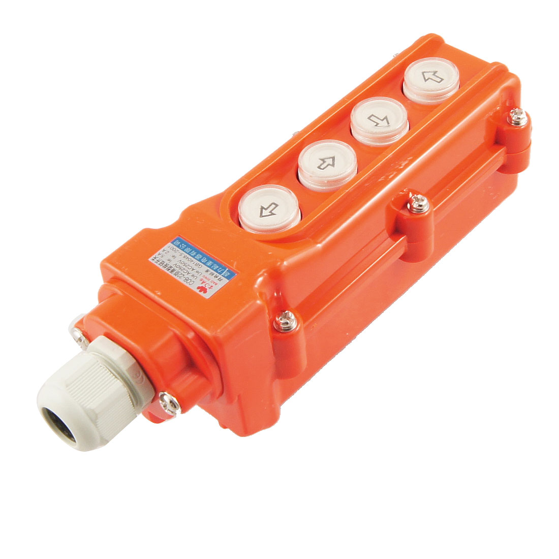 Rainproof 4 Ways Hoist Pushbutton Switch Up Down AC 250V 5A 250V 2A 3x10mm 5a 250v