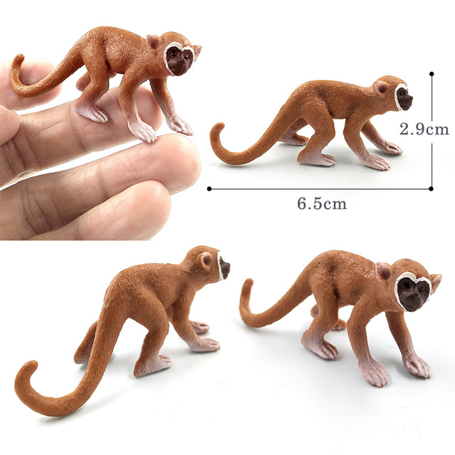 Sloth Orangutan Chimpanzee gibbon Monkey Animal model figurine home decor miniature fairy garden decoration accessories statue 6
