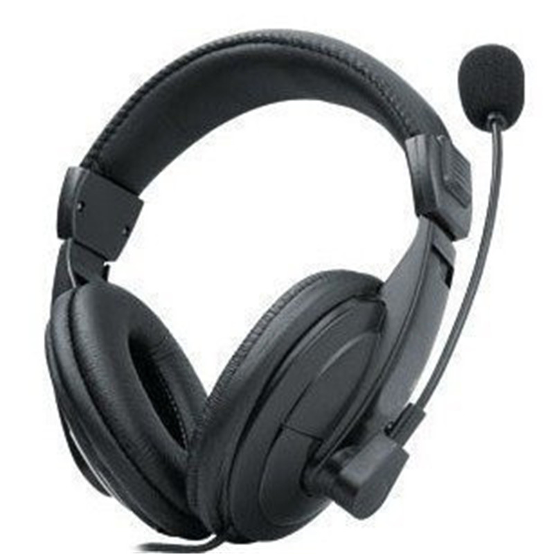 Professional Gaming Headset Wired Headphones With Mic Computer TV Headphones Foreign Trade Telephone HeadsetBLACK LF01-024 ITSYH