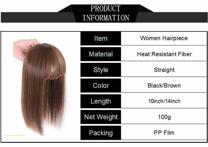 Gres прямые длинные женские парики с заколка для волос высокотемпературная волоконная светло-коричневая/Черная Женская тонкая часть волос Felmale Scalp/Toupee