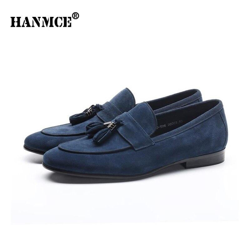 Zapatos de oficina para hombre HANMCE zapatos planos de cuero genuino para hombre mocasines zapatos de cuero de demanda zapatos de boda para hombre pisos-in Zapatos formales from zapatos    2