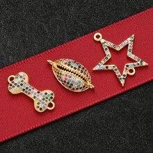 ZHUKOU 9x18 мм Высококачественный хрустальный кулон из кости щенка для ожерелья и сережек ручной работы, браслетов, ювелирных изделий, аксессуары VS388