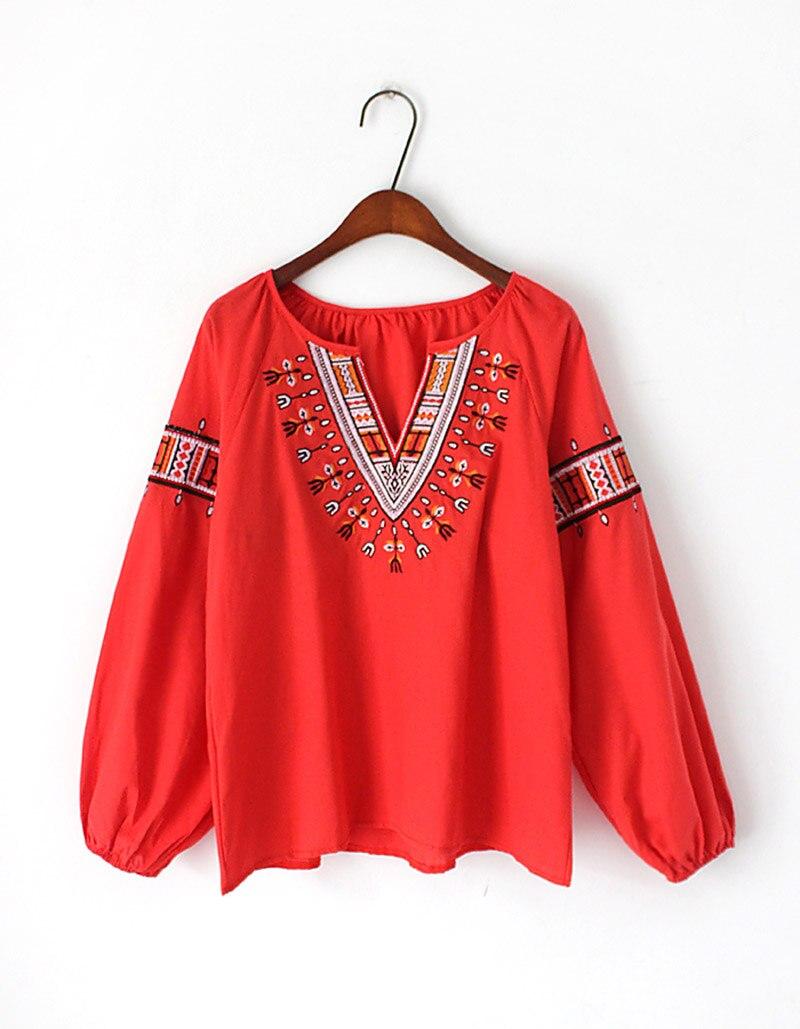 Versión Nacional Nuevo Moda Yingyuanfang amarillo Camisa De Fresco Pequeño blanco La Rojo Coreana Muñeca Bordado Suelta wnXYRRqdx