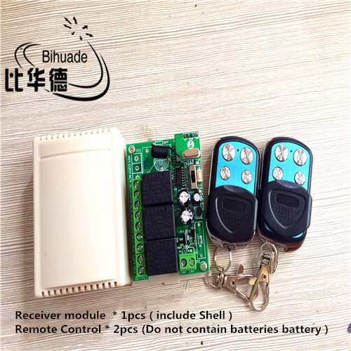 433mhz Universal 12v 10a Relay 3ch Wireless Remote Control Switch Receiver Module And Rf Remote 433Mhz Transmitter Domotica
