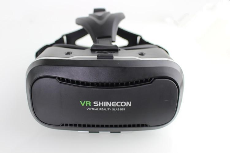 """ถูก ใหม่VR Shinecon II 2.0หมวกกันน็อคกระดาษแข็งจริงเสมือนแว่นตาโทรศัพท์มือถือ3Dวิดีโอภาพยนตร์สำหรับ4.7-6.0 """"มาร์ทโฟนที่มีGamepad"""