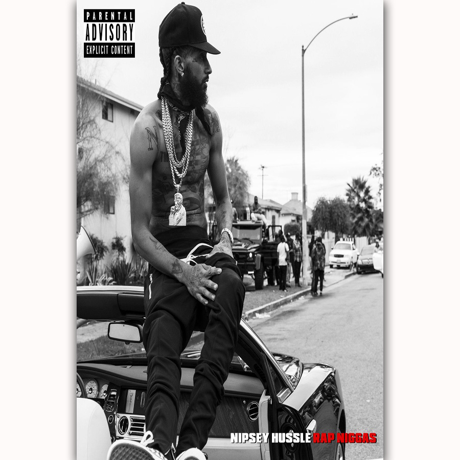 US $5 89 |MQ3639 Hot Rap Music Stars Niggas Nipsey Hussle Album New Art  Poster Silk Light Canvas Home Bedroom Decor Wall Picture Printing-in  Painting