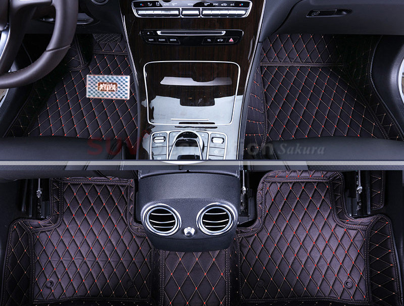 aliexpresscom buy for mercedes benz glk class x204 2008 2015 accessories interior leather front rear carpets cover car foot mat floor pad 1set from