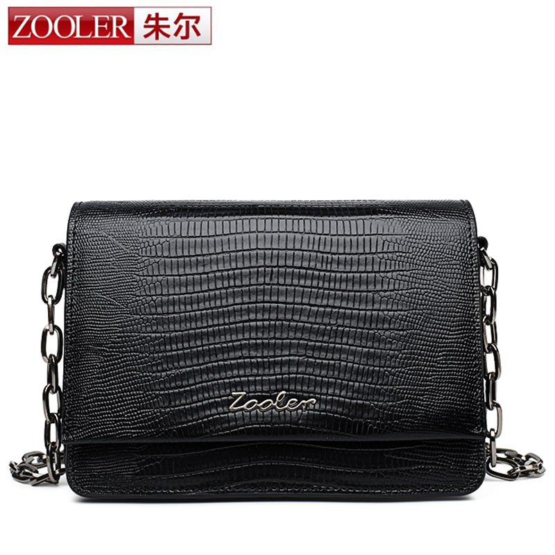 ZOOLER High Quality Natural Real Leather Flap Bags Famous Brand Women Leather Handbags Popular Brand Designer Chain Shoulder Bag zooler 100% real natural genuine leather women small handbag high quality famous design brand bags tassel shoulder messenger bag