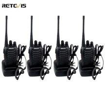 4 sztuk walkie retevis h777 uhf 400-470 mhz ham radio radio communicator hf transceiver walkie-talkie handy a9105a telsiz