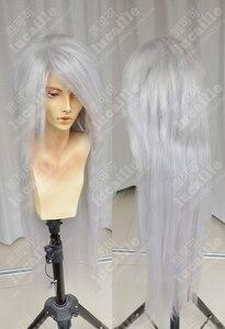 Image 3 - Аниме Наруто джираия длинный белый конский хвост термостойкие Sythentic волосы косплей костюм парики парик