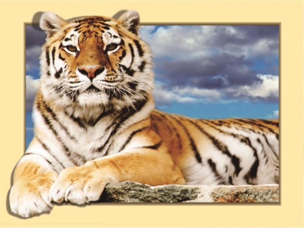 2018 New DIY 5D Canvas Siberian Tiger Pattern Diamond Painting Cross Stitch Diamond Embroidery Patterns rhinestones Mosaic