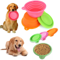 Foldable Pet Dog Cat Travel Feeding Bowl Collaspible Silicone Water Dish Feeder For Pet Feed Tools