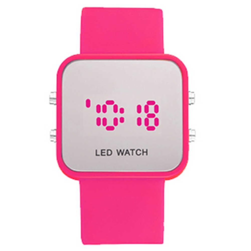 נשים של גברים הדיגיטלי לד הכרונוגרף סיליקון בנד קוורץ ספורט שעון יד