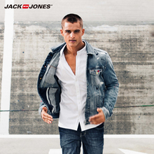 JackJones brand Men's fashion high quality comfortable vintage denim Jacket men slim top 216121031(China)