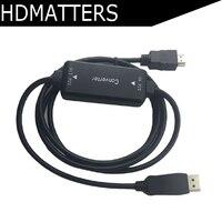 Активный 4K HDMI к Displayport 1,2 конвертер Кабель-адаптер 1,8 м HDMI в DP out