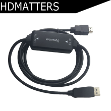 Active 4K HDMI to Displayport 1.2 converter adapter cable 1.8m in DP out