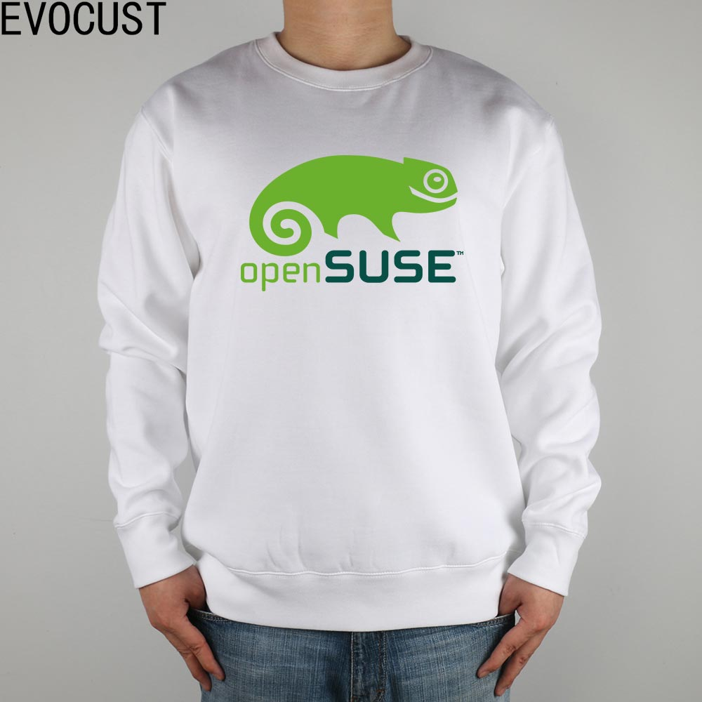 LINUX open source opensuse men Sweatshirts Thick Combed Cotton