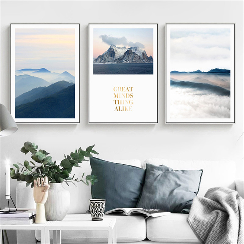 CANVAS Mountain Landscape Art print POSTER