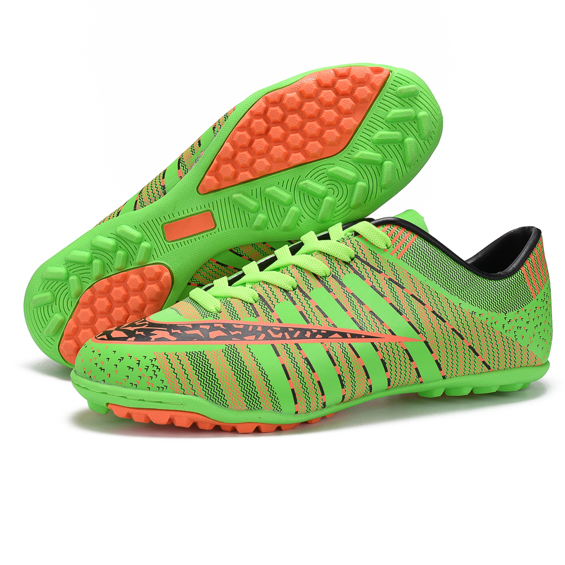 a3a0bf24149 Broken Nails Men Football Shoes Newest TF Trained Soccer Shoes Long Spikes  Outdoor Lawn Football Boots Hard Court Soccer Cleats