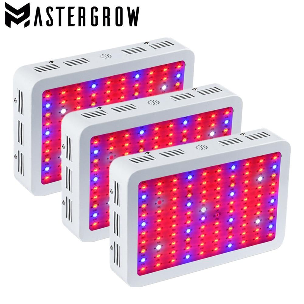3PCS DIAMOND II 600W 800W 1000W 1200W 1500W 1800W 2000W Double Chip LED Grow Light Full Spectrum Red/Blue/UV/IR For Indoor Plant