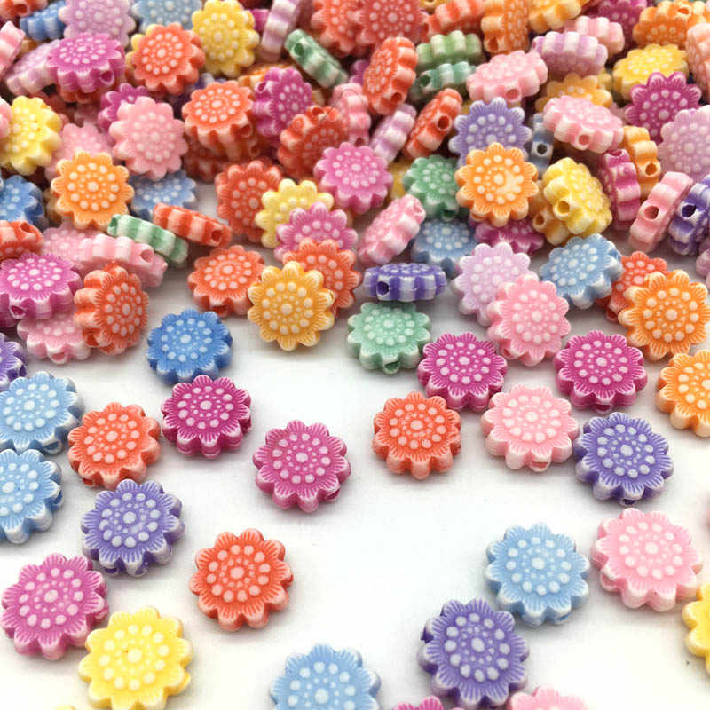 DIY 100pcs/Lot New Cheap Many Shapes Acrylic Beads Handmade Bracelet Jewelry Accessories Making Wholesale Color Random Delivery