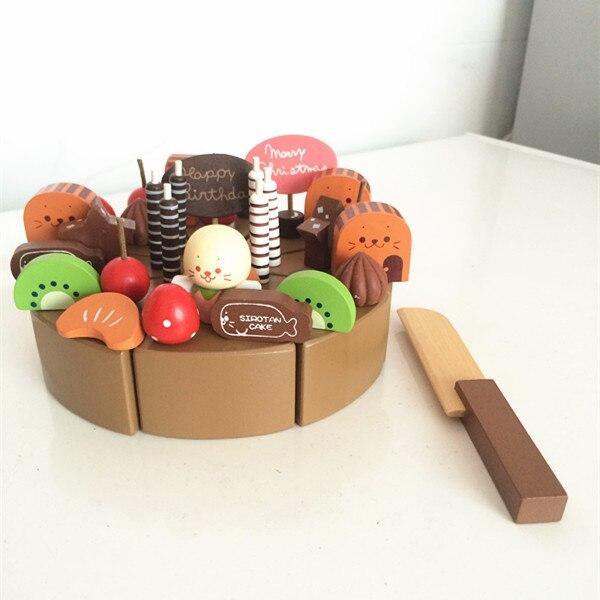 Spielhaus Mit Küche   Baby Spielzeug Holz Schokolade Kuchen Geburtstag Kuchen Lebensmittel