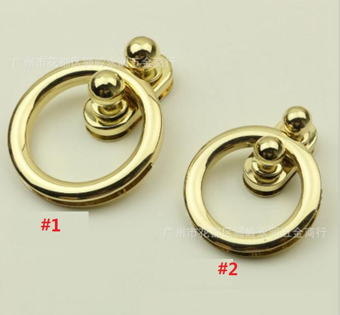 (100 Pieces/lot) Factory Wholesale Bags Handbags Metal 2 Specifications Ring Twist Lock Decorative Buckle Hardware Accessories